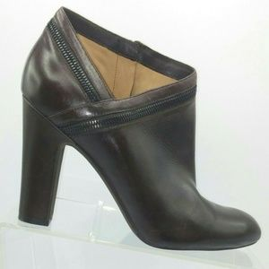 Via Spiga 10 Ankle Boots Booties Brown Zip Up Pump